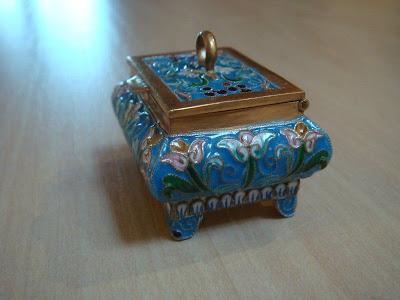 STERLING SILVER . RUSSIAN CASKET SILVER , ENAMEL .