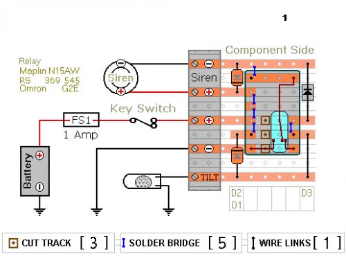 Relay Based Motorcycle Alarm Circuit Diagrams circuitsanyoutube