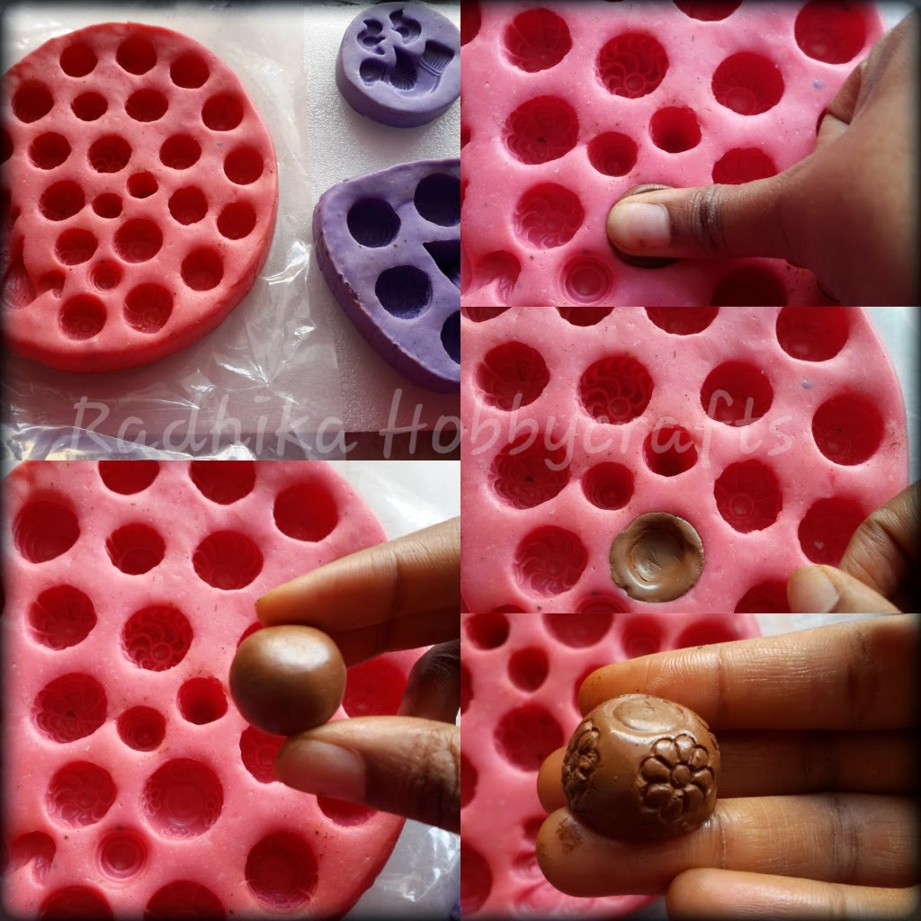 I Will Show Bird Design Silicon Mould And It Has 2 Studs Pendant Place A Little Amount Of Clay Press Then Remove The Excess