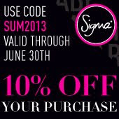 Sigma JUNE 10%OFF code