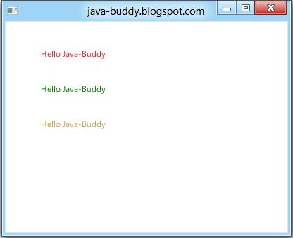 Set Text Color Using JavafxscenepaintColor