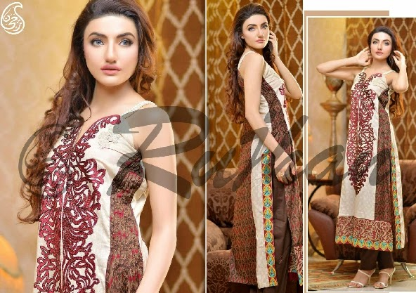 Rujhan Range Eid Collection 2014