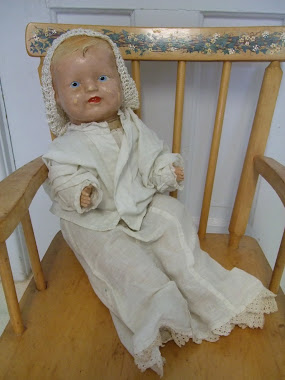 "Composition Baby Doll-""Baby Bubbles""?-1920's?"