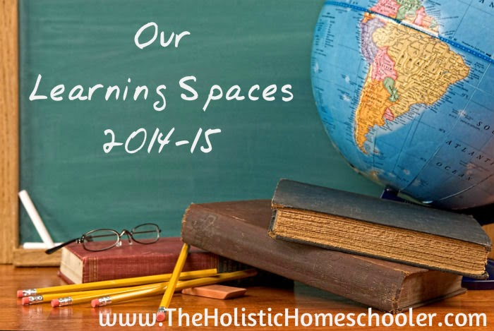 """This week I'm sharing  our homeschool spaces at the """"Not"""" Back-to-School Blog Hop."""