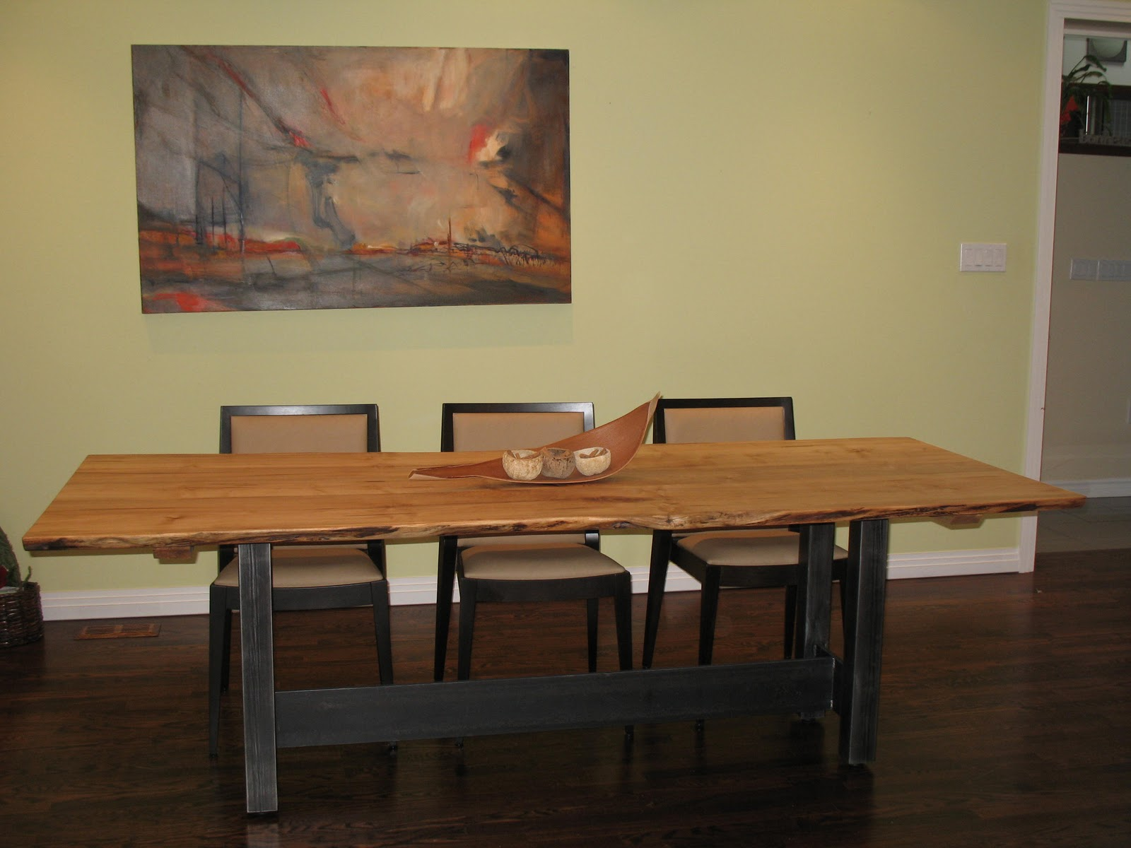 Maple live edge dining table - Live Edge Dining Room