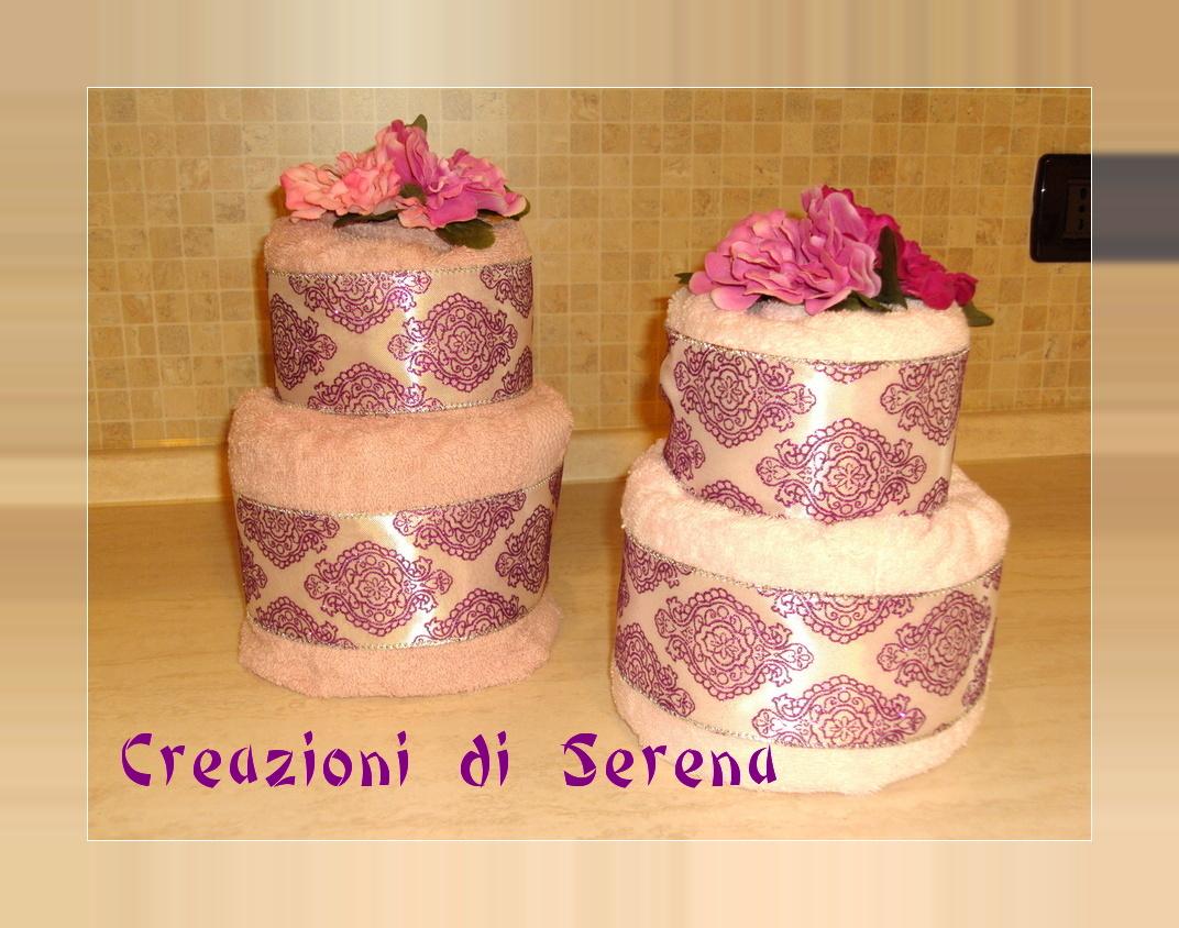 Creazioni di serena torta di asciugamani rosa for Animali con asciugamani