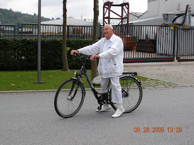 Dad riding bike
