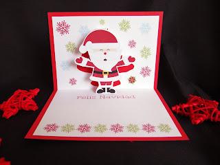 Patty papel tarjetas 3d navidad - Como hacer una tarjeta de navidad original ...