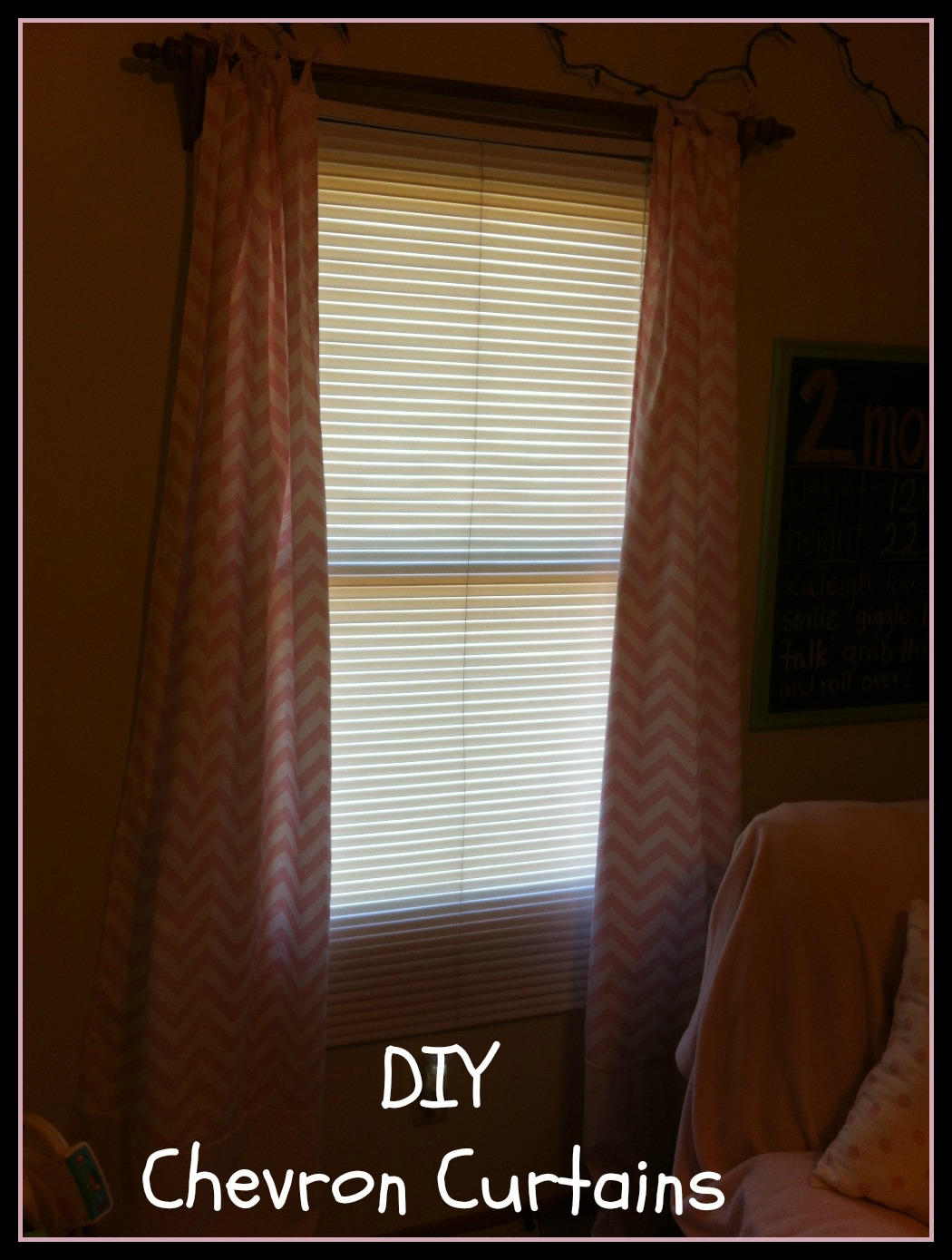 Pink Chevron Nursery Curtains