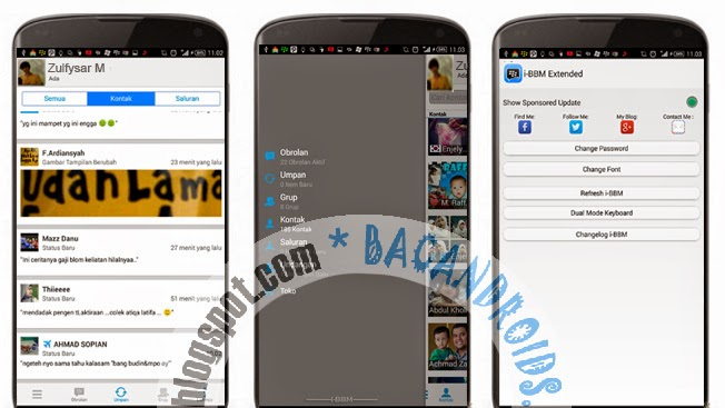 Download I-BBM Mod Thema Iphone  2.7.0.20