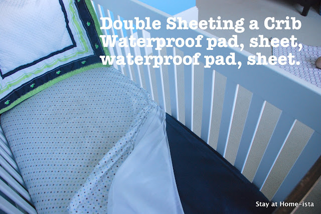 double sheeting a crib