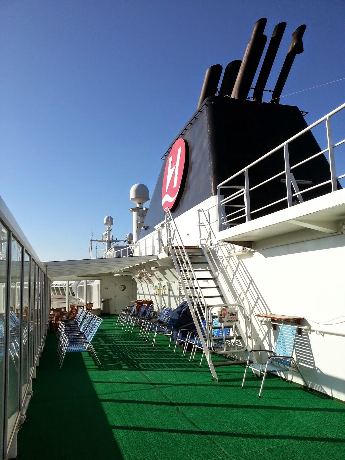 Hurtigruten MS Nordlys - Sun Deck