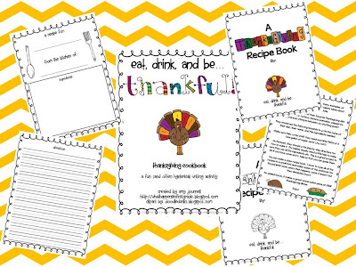 What Happens in First Grade: Thanksgiving Recipe Book: A FUN ...