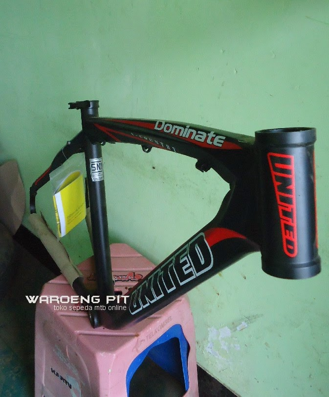 Jual Frame Dominate 012 X country warna hitam merah sepeda mtb gunung mountain bike murah waroengpit 2