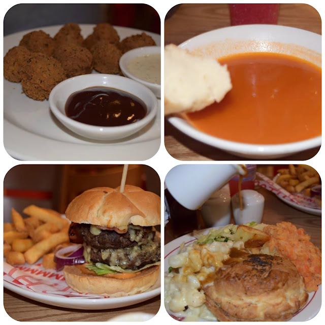 main courses at Brewers fayre