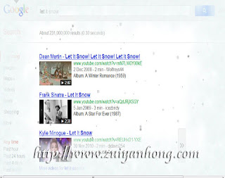 Google Snowing