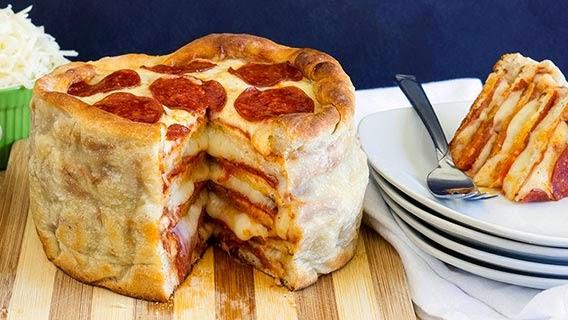 Pepperoni Pizza Cake Recipe