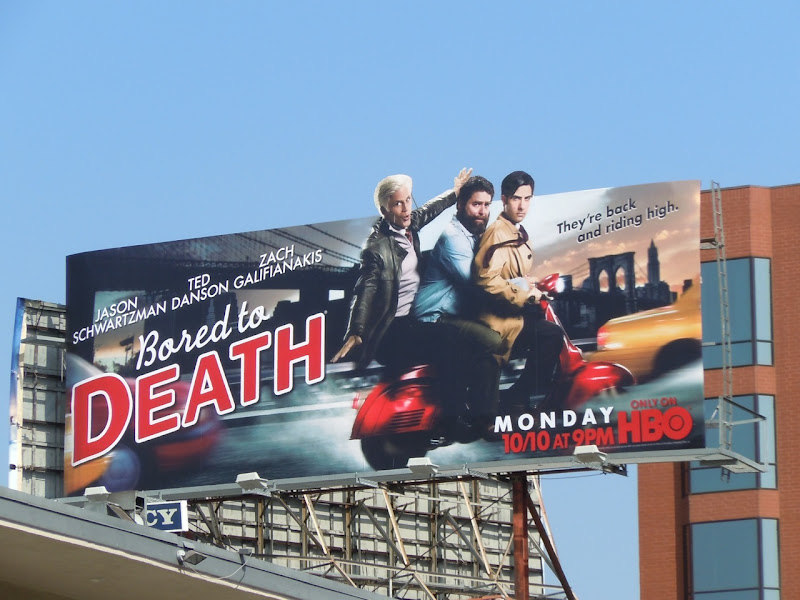 Bored to Death season 3 billboard