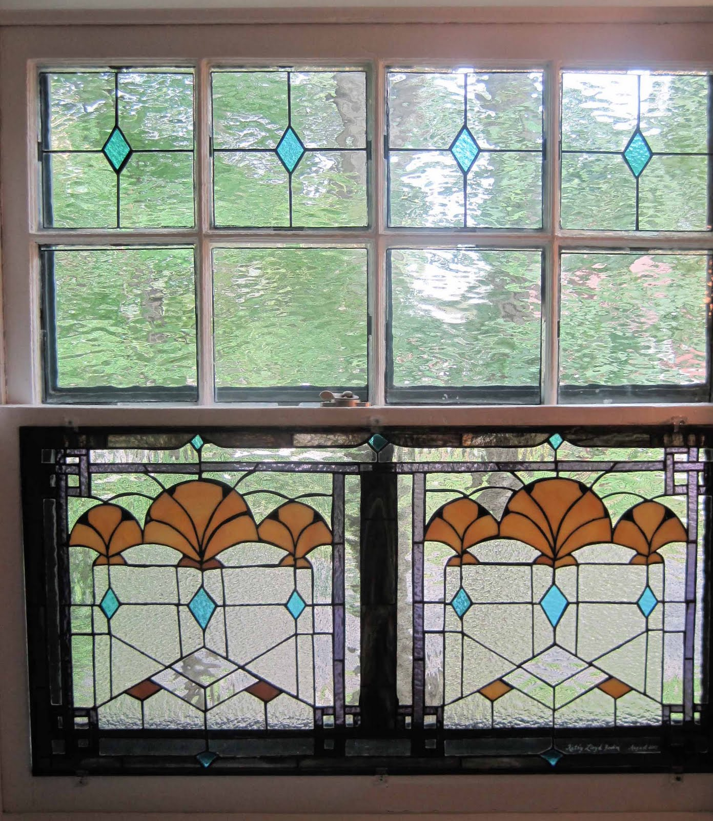 Boehm stained glass blog art deco windows installed for Art glass windows