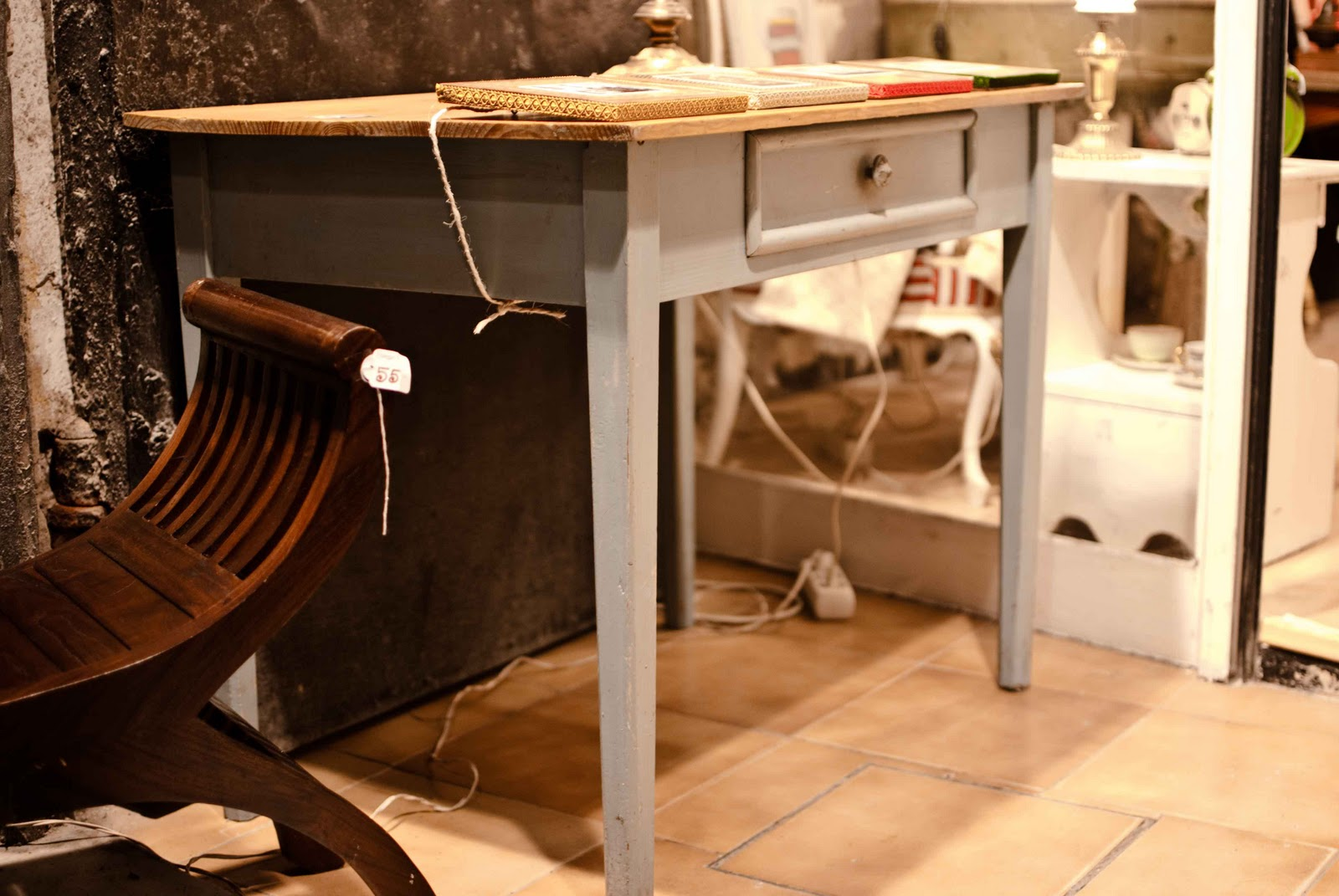 The attic antiques mesas - Mesa cocina vintage ...