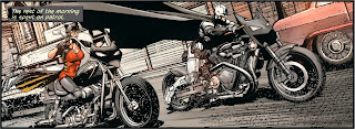 Gothtopia biker Batman and Catbird from Detective #27