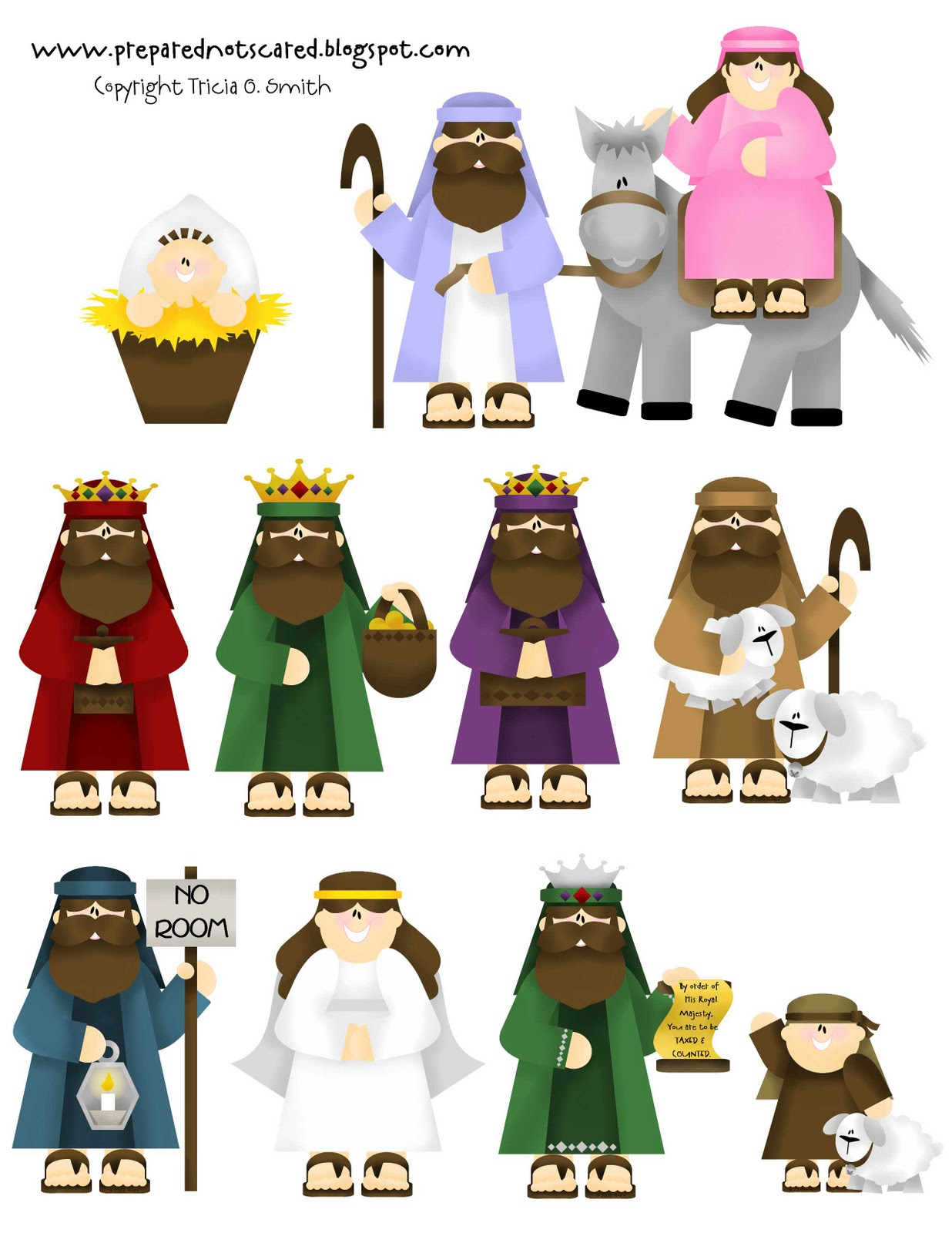 Canny image inside printable nativity scene