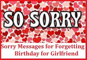 A sorry message to your girlfriend