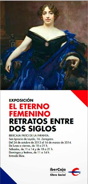 Cartel con cuadro La marquesa de Encinares de Francisco Pradilla