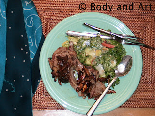 ROBBY ROBINSON'S DIET - HEALTHY MEALS LAMB CHOPS WITH SAUTEED VEGETABLES ▶ www.robbyrobinson.net