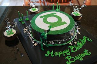 green lantern cake  Birthday Party ideas!  Pinterest