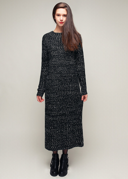 Maxi Long Heather Knit Dress
