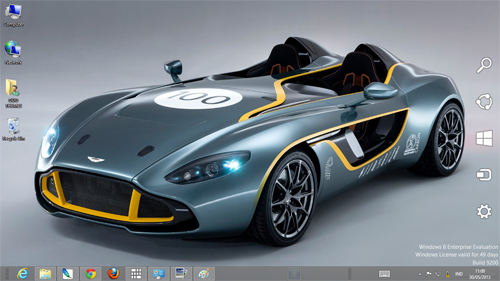 Aston Martin CC100 Speedster Concept Theme For Windows 7 And 8