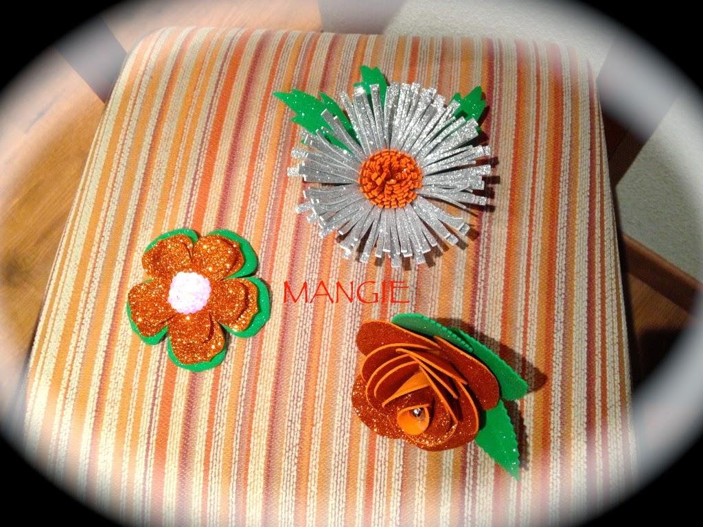 Flores para tocado goma eva