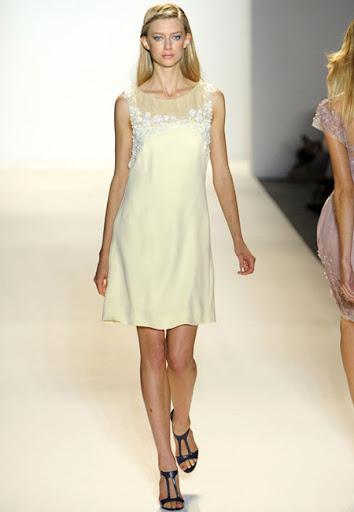 Къса рокля с прозрачна платка от Lela Rose