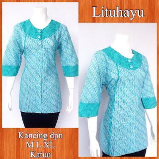 Baju Blouse Batik Lituhayu DBT 4211