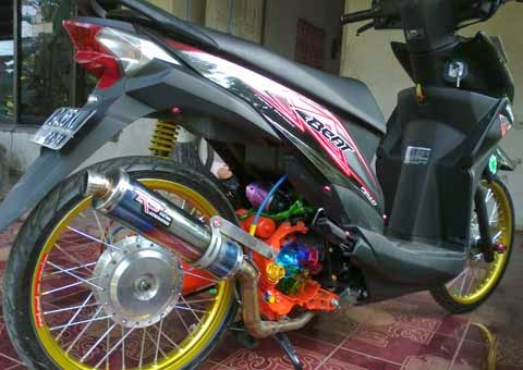 kumpulan modifikasi motor matic beat fi
