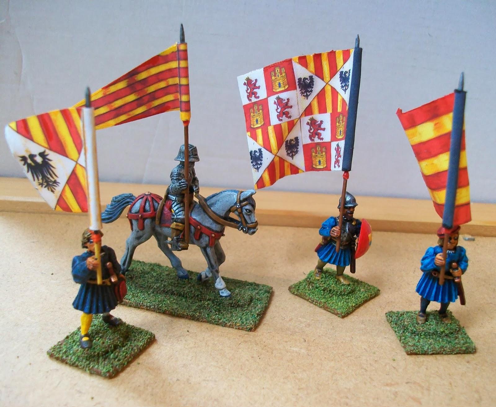 28mm Medieval Renaissance Italian Wars Landsknecht Flags 1