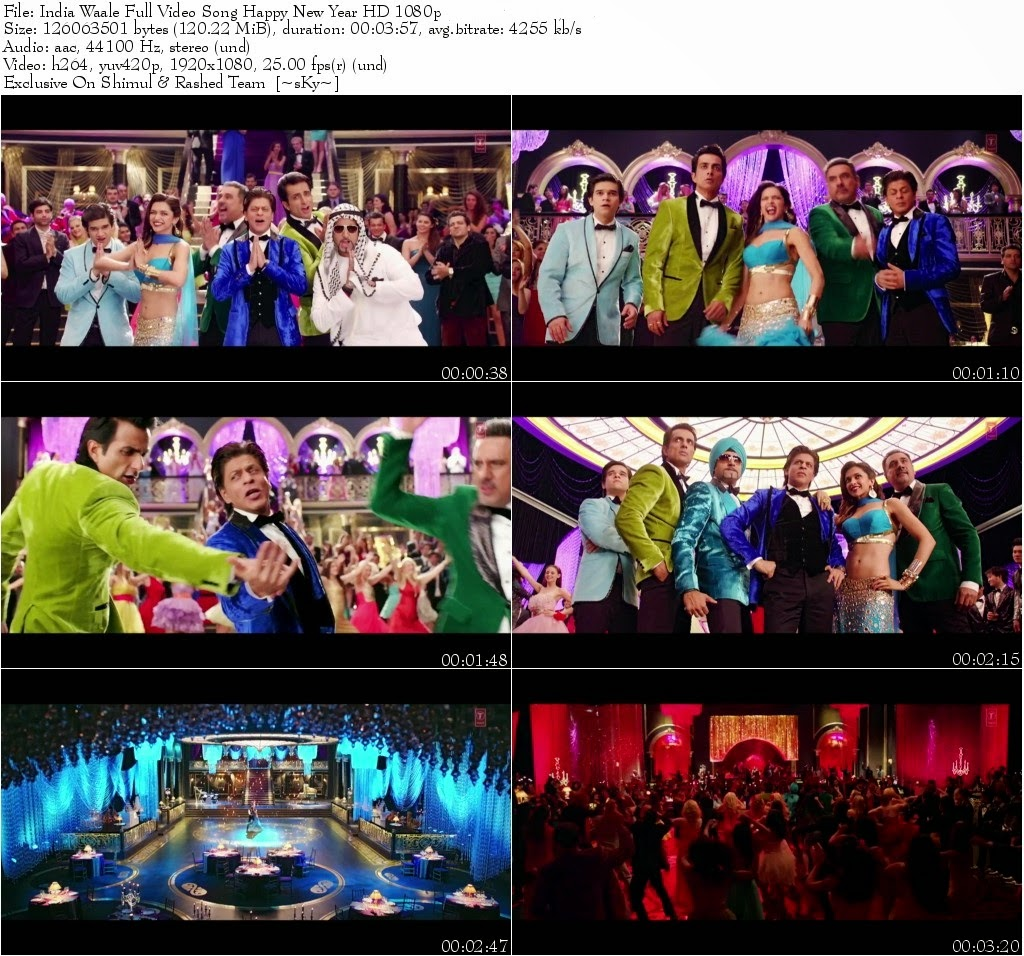 India Waale Full Video Song – Happy New Year (2014) Ft. Shah Rukh Khan & Deepika Padukone HD