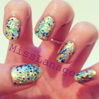 mirrorball nail art designs