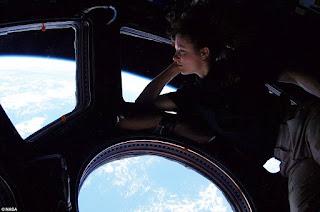 Earth window astronaut