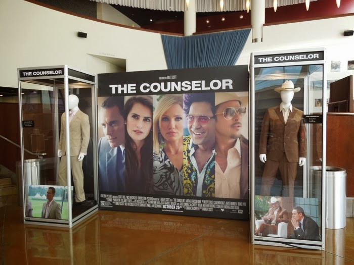 The Counselor movie costume exhibit