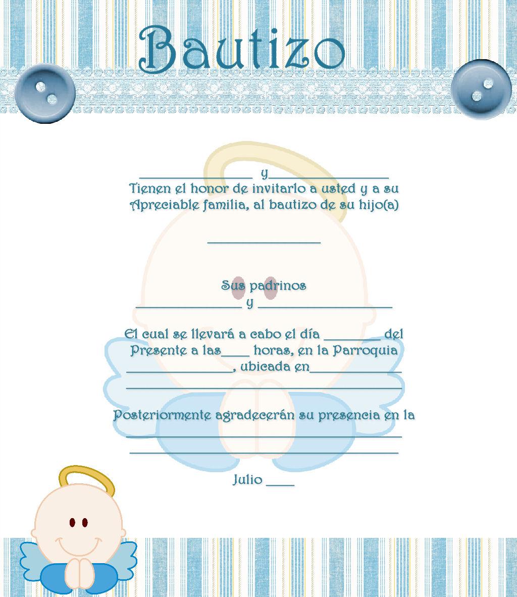 invitaciones de bautizo gratis para editar