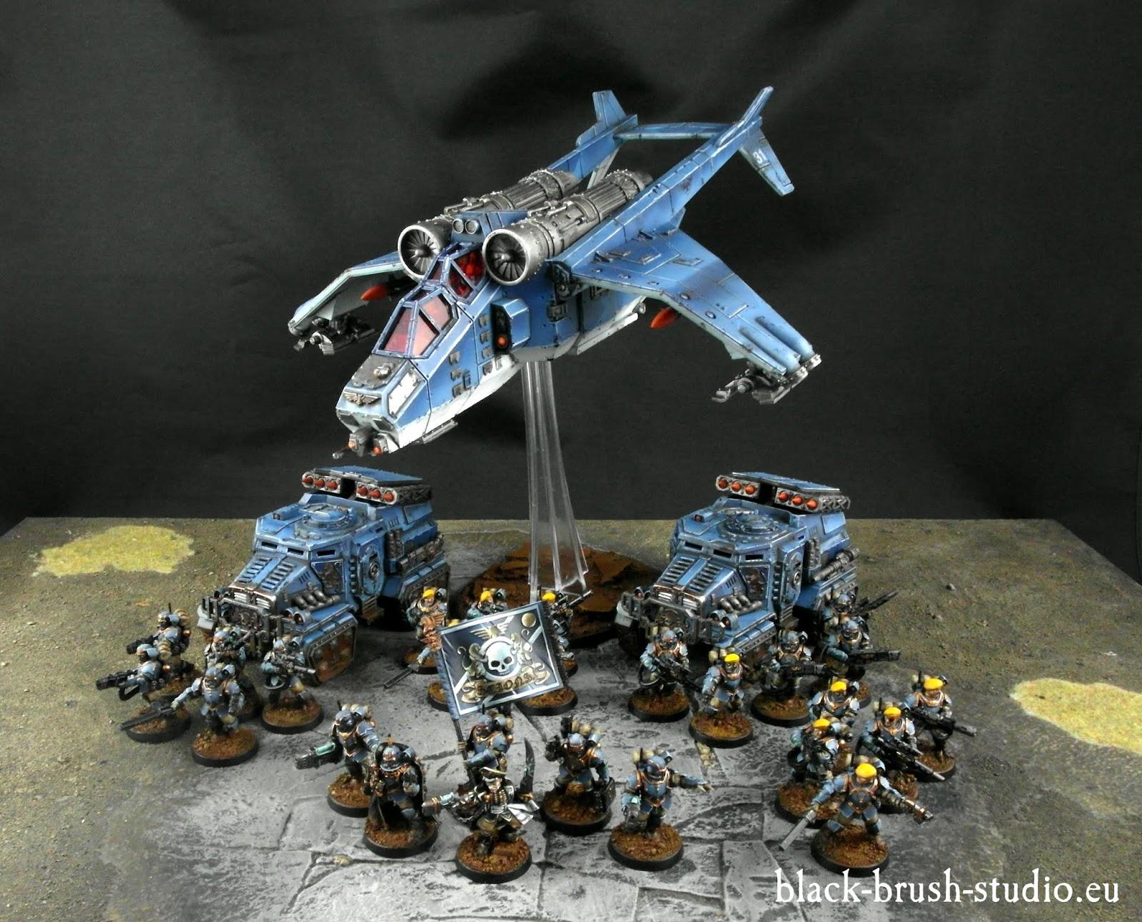 Scion Tempestus Militarum Tempestus Scion With Platoon