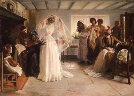 Enchanted Serenity of Period Films: Paintings of Weddings Long Ago