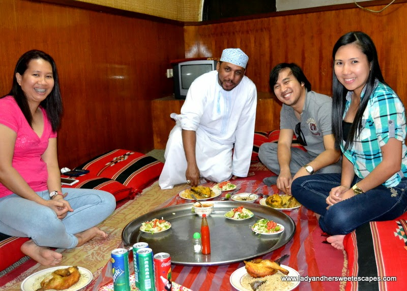 Omani dinner at Bin Ateeq restaurant with a local