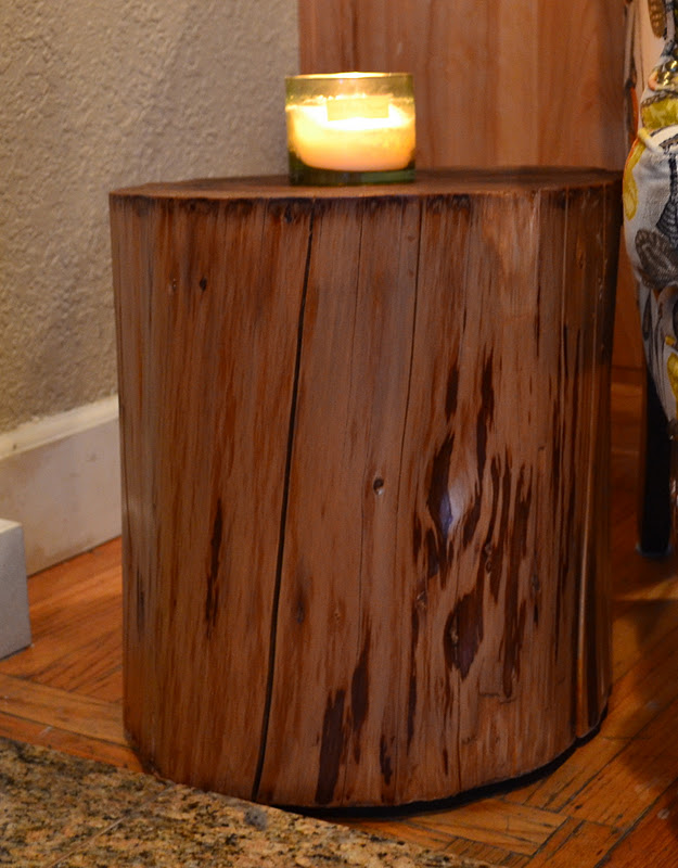 Restyle restore rejoice diy tree stump side table for Stump furniture making