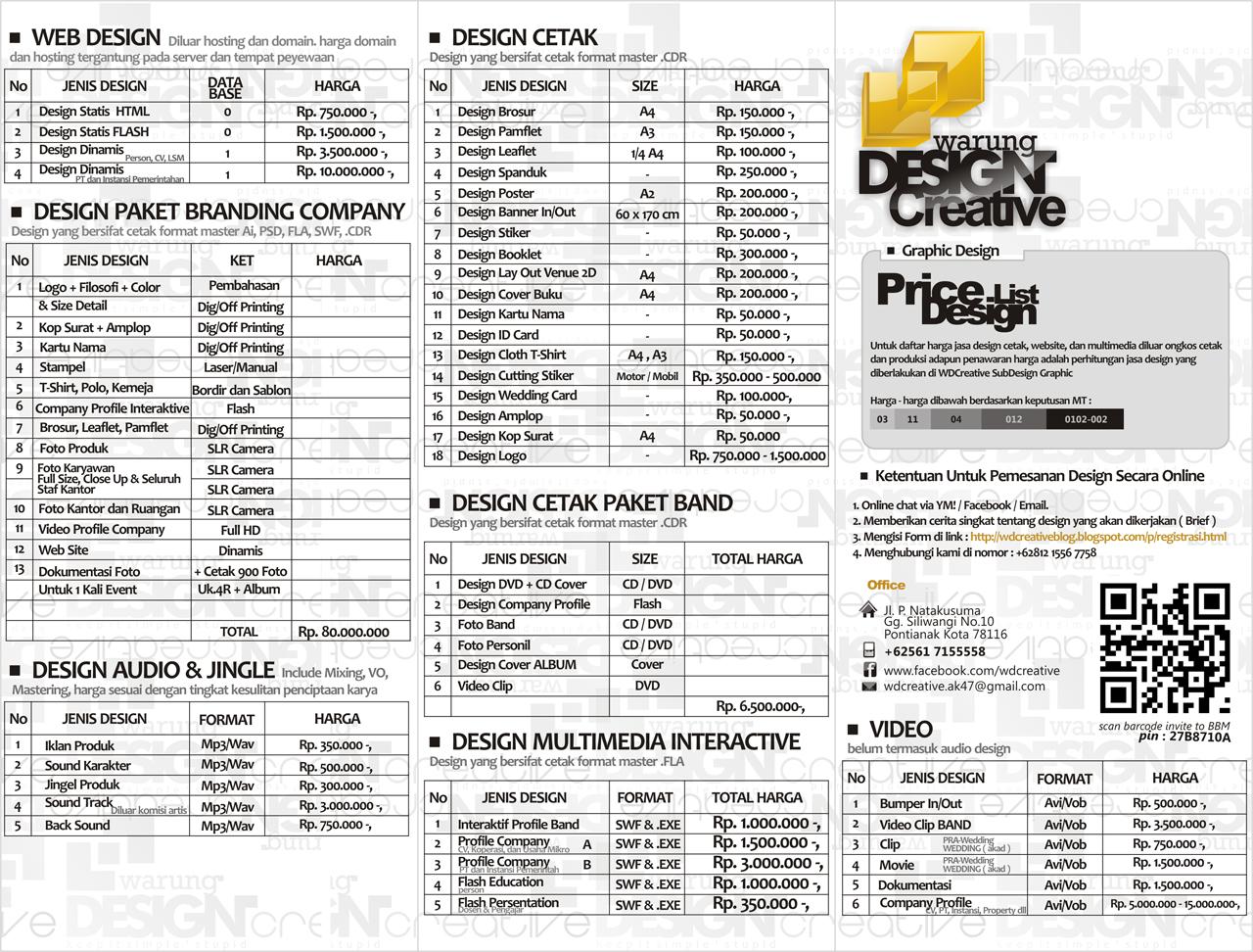 Creative Price List Designs Download Price List Design