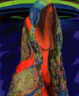La Huida, Pintura de Amparo Méndez