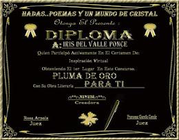 PLUMA DE ORO 1ER LUGAR