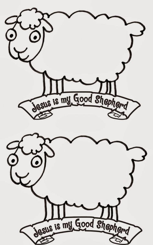 Desde mi rincón de religión: Colorear ovejas - 2-